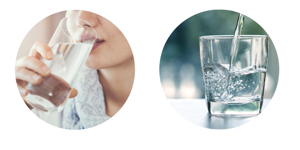 Kangen Water- Image showing Drinking water and a lady drinking a glass of water